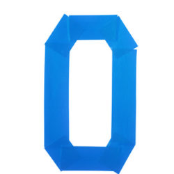Number zero symbol made of insulating tape isolated over the white background